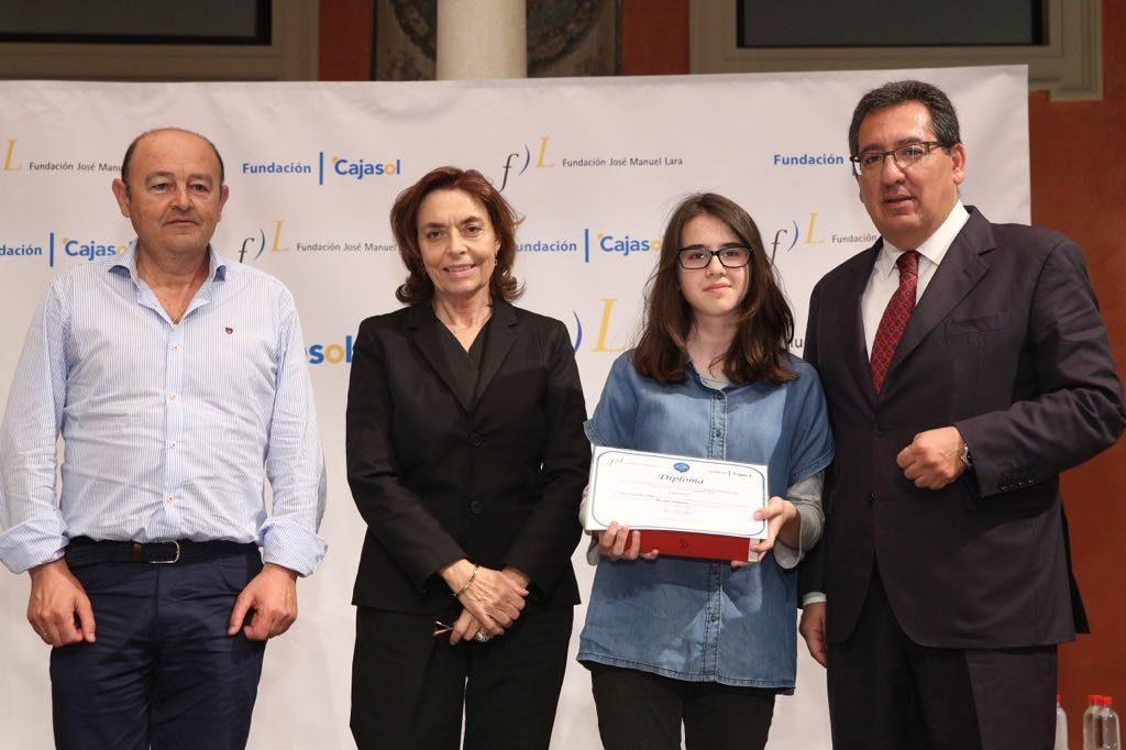 Luna González Silva, ganadora del V concurso 'Mi libro preferido' en la provincia de Córdoba