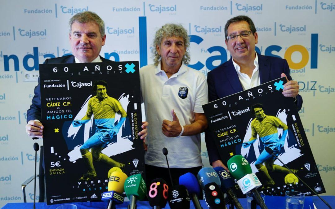 La Fundación Cajasol su suma al homenaje a Mágico González: '60 años de Magia' en Cádiz