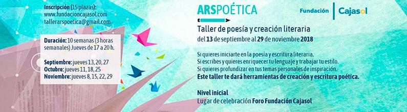 Nuevas inscripciones para el taller de poesía y creación literaria 'ARS Poética' en Sevilla