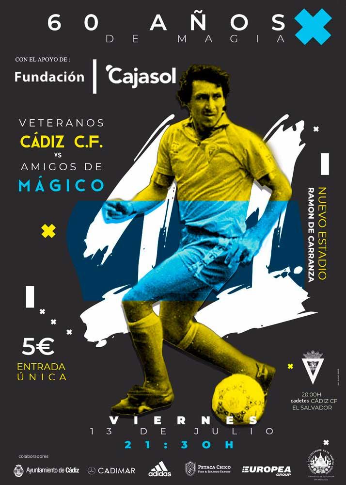Cartel del evento '60 años de Magia', homenaje a Mágico González en Cádiz