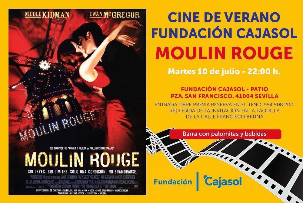 Cartel de la película Moulin Rouge en el cine de verano 2018 de la Fundación Cajasol