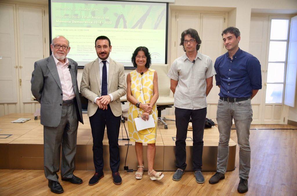 Presentación del I Plan Andaluz de Memoria Democrática 2018-2022 en Sevilla