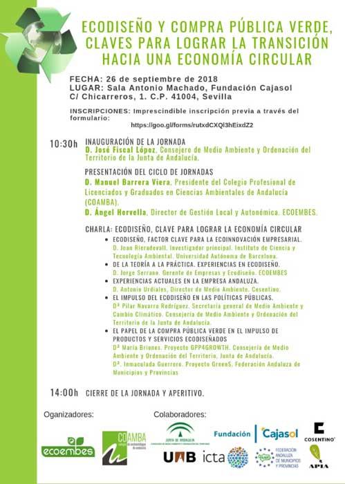 Programa de las jornadas sobre gestión de residuos y Economía Circular en Sevilla