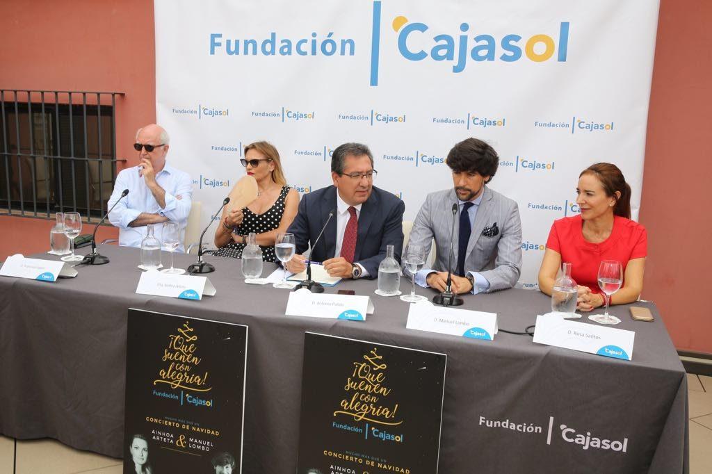 Francisco López, Ainhoa Arteta, Antonio Pulido, Manuel Lombo y Rosa Santos, en la presentación de ¡Que suenen con alegría! 2018