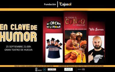 La III edición de 'En clave de humor', el 25 de septiembre a beneficio de AFA Huelva