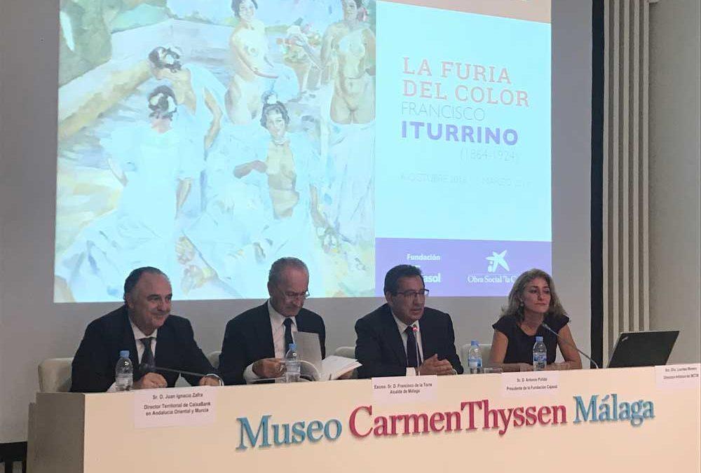 La exposición 'La furia del color' aborda la etapa del pintor Francisco Iturrino en Málaga