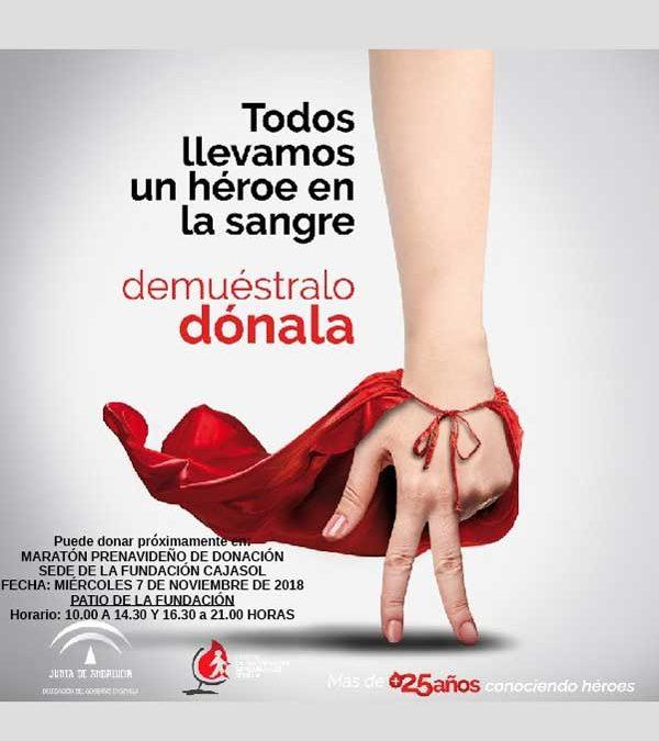 Maratón de donación de sangre prenavideño en Sevilla