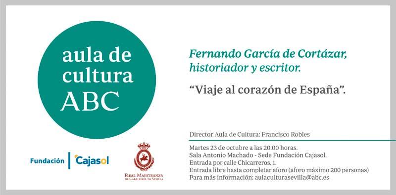 García de Cortázar presenta su libro 'Viaje al corazón de España' en el Aula de Cultura de ABC de Sevilla