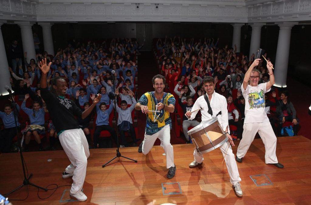 Impactante concierto didáctico para escolares en 'El mundo de la percusión'