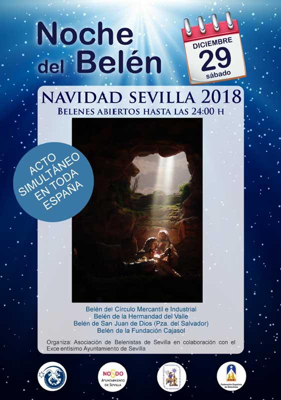 Cartel de la Noche del Belén 2018 en España