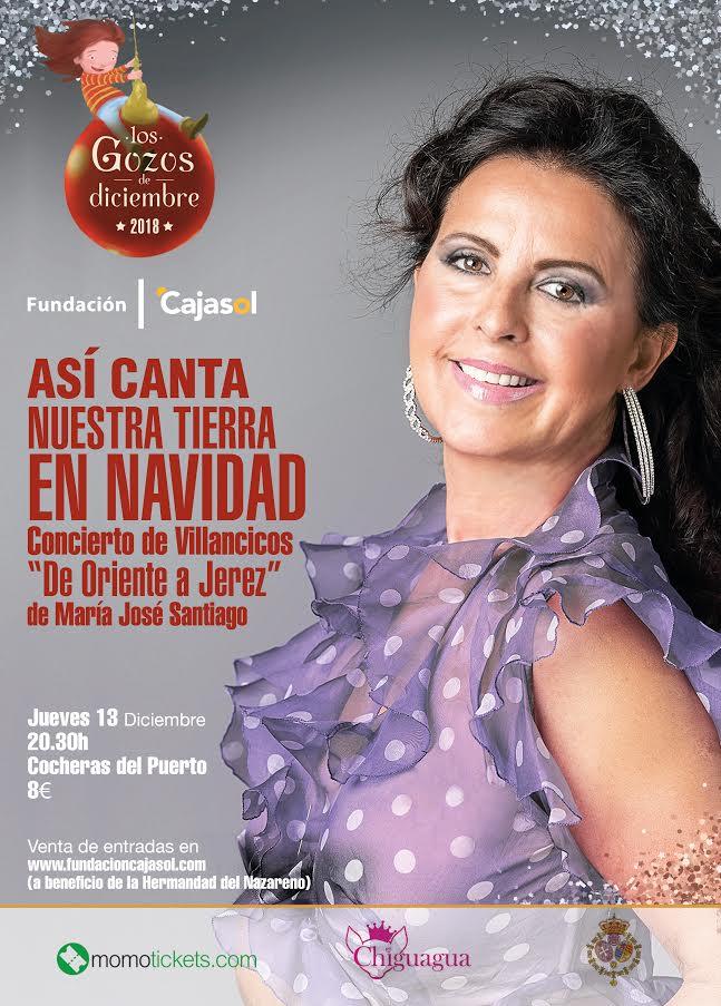 Cartel del concierto de María José Santiago en Huelva