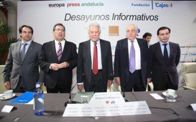 Desayuno Informativo de Europa Press con Felipe González en Sevilla