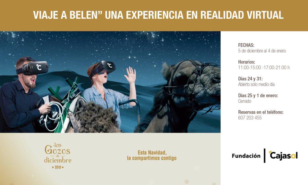 Carte de la experiencia virtual 'Un viaje a Belén' de la Fundación Cajasol en Huelva