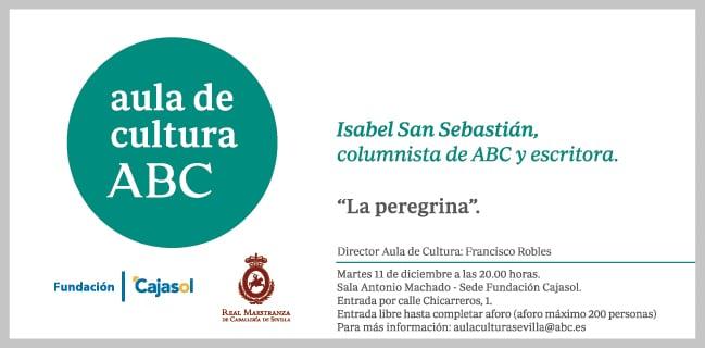 Invitación al Aula de Cultura de ABC con Isabel San Sebastián
