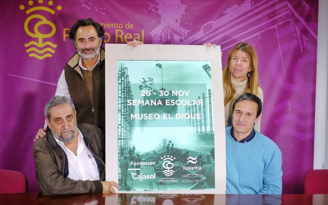 Medio millar de escolares conocen el Museo 'El Dique' de la mano del Ayuntamiento de Puerto Real y la Fundación Cajasol