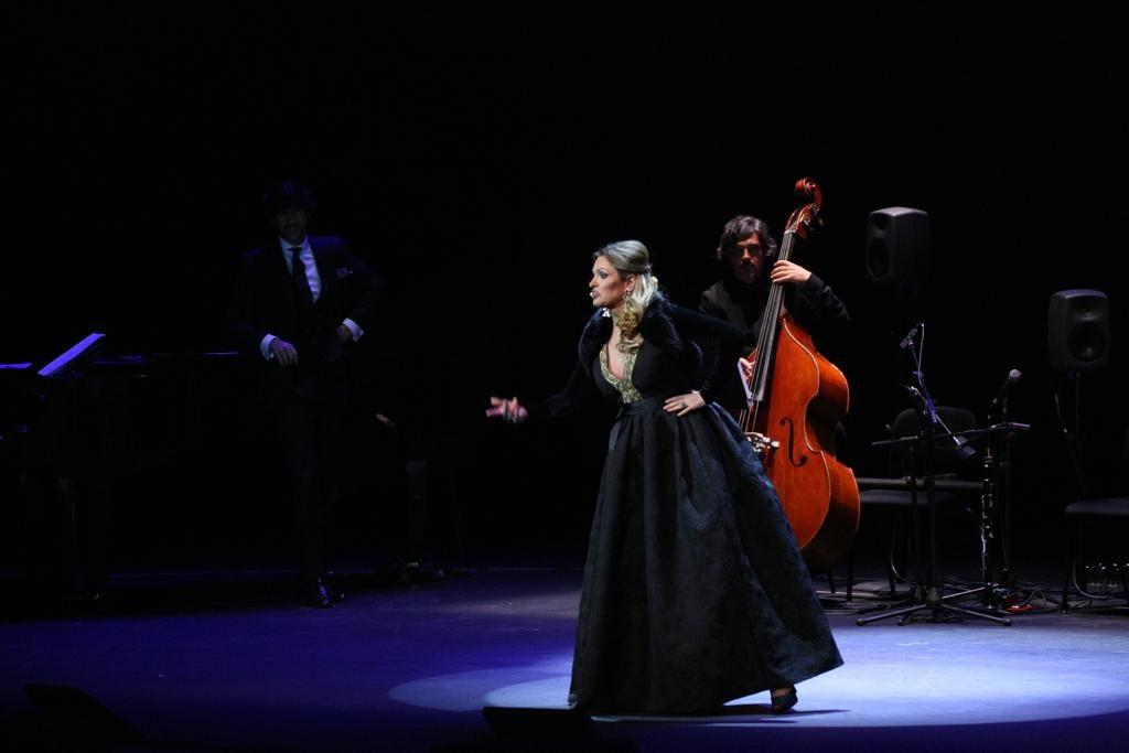 Ainhoa Arteta en su actuación en el Cartuja Center de Sevilla