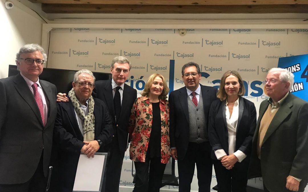 Encuentros sobre el 40 aniversario de la Constitución Española con Fernando Jáuregui, José María Izquierdo y Emilio Contreras en Cádiz