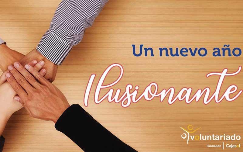Desde Fundación Cajasol y nuestro voluntariado os deseamos un ¡Feliz Año 2019!