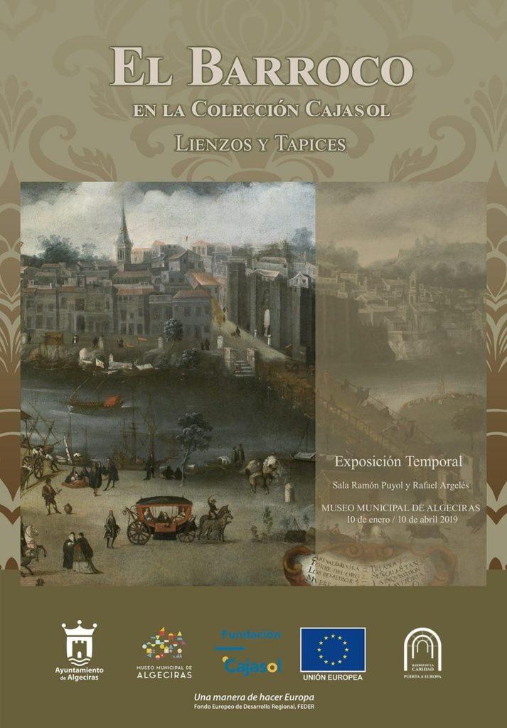 Cartel de la exposición 'El Barroco en la colección de la Fundación Cajasol' en Algeciras