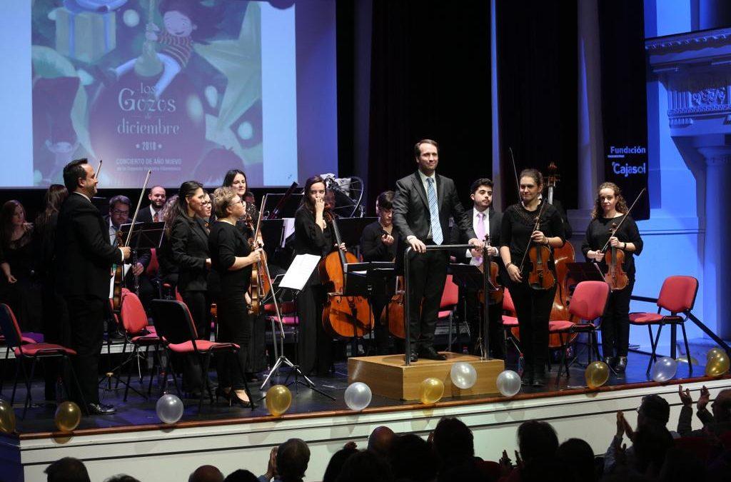 La Orquesta Hispania Filarmónica pone la banda sonora al inicio de 2019 en la Fundación Cajasol