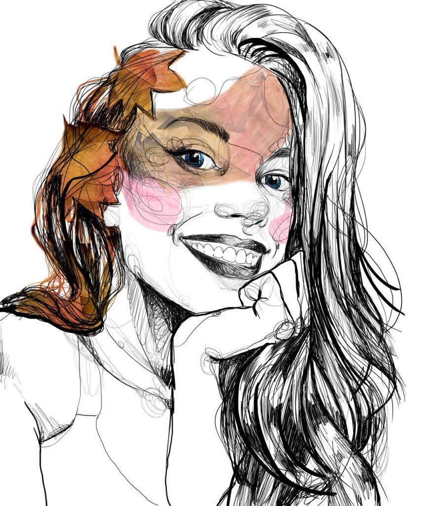 Retrato de 'Ángela', de Lily Vainylla