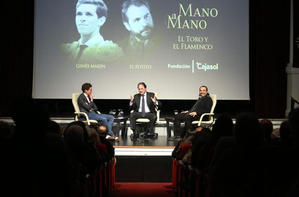 Ginés Marín y 'El Potito': toros, juventud y flamenco en el primer 'Mano a Mano' de la Fundación Cajasol en 2019