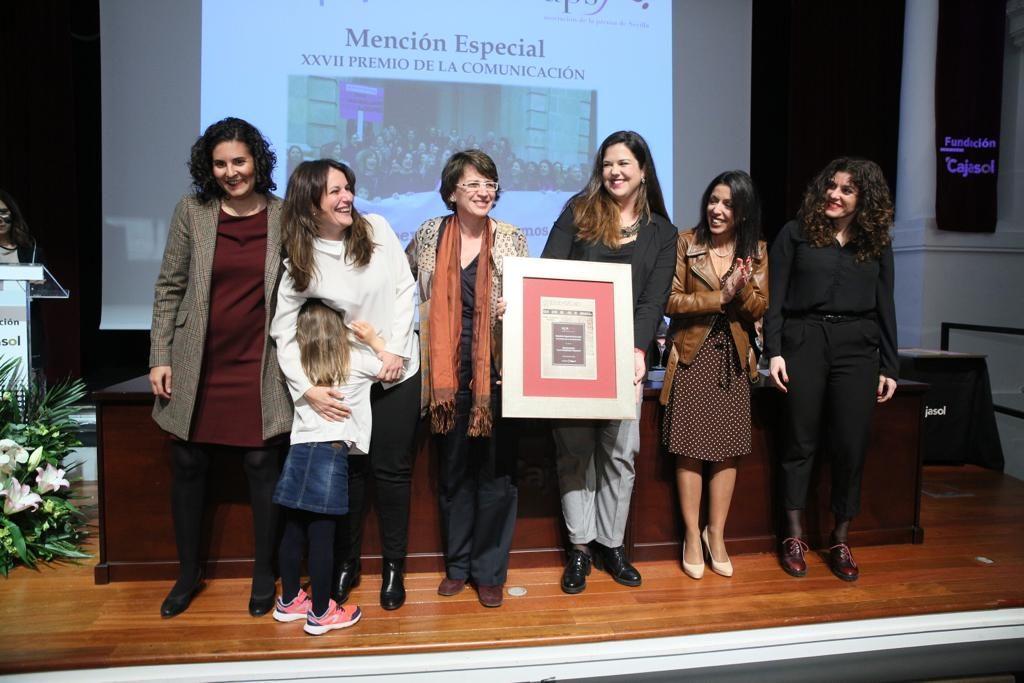 Mención especial para la iniciativa 'Las periodistas paramos' en la Fundación Cajasol