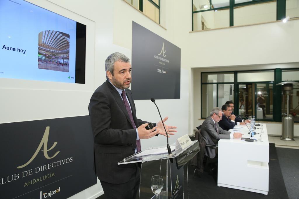 Maurici Lucena, explicando la línea estratégica de Aena para los próximos años