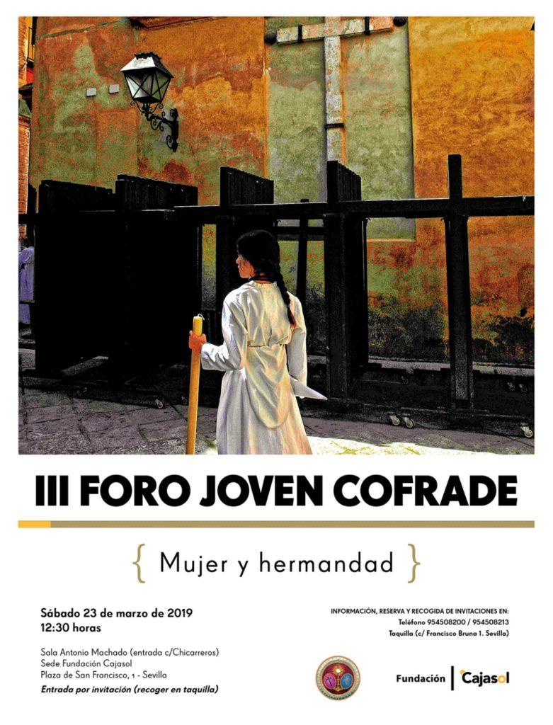 Cartel del III Foro Cofrade en Sevilla