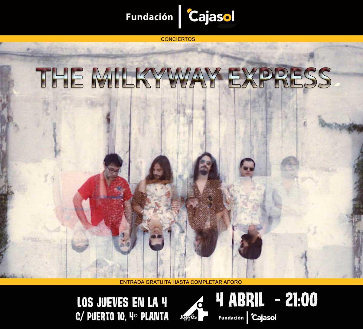 Cartel del concierto de 'The Milkyway Express' en Huelva