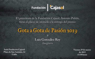 La Fundación Cajasol concede su II Premio Gota a Gota de Pasión en Cádiz al imaginero Luis Enrique González Rey