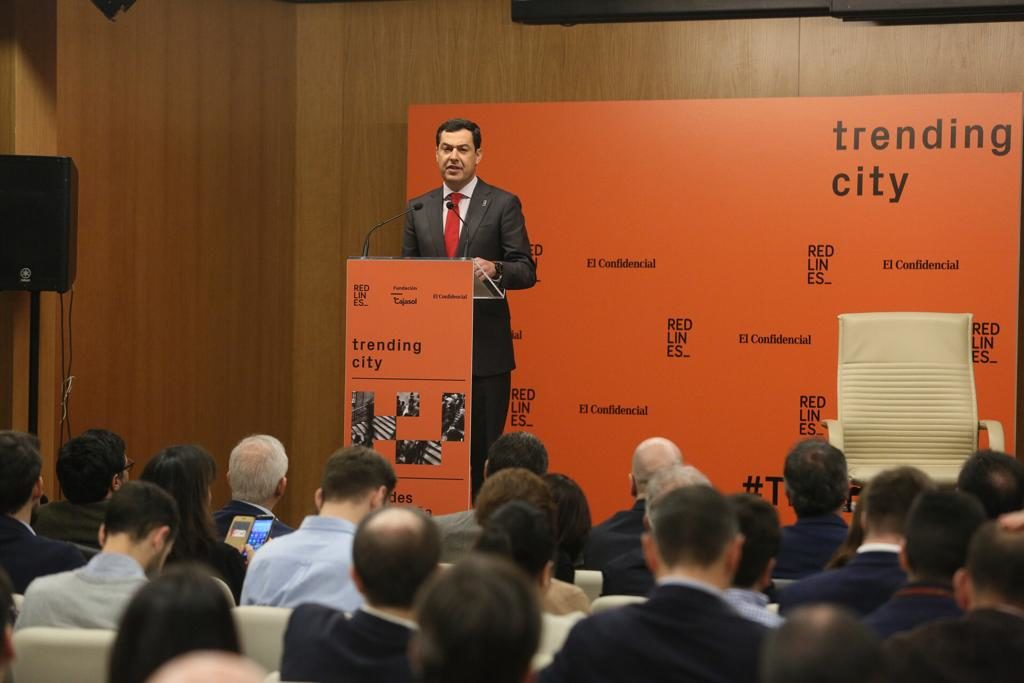 El presidente de la Junta de Andalucía, Juan Manuel Moreno Bonilla, en Trending City
