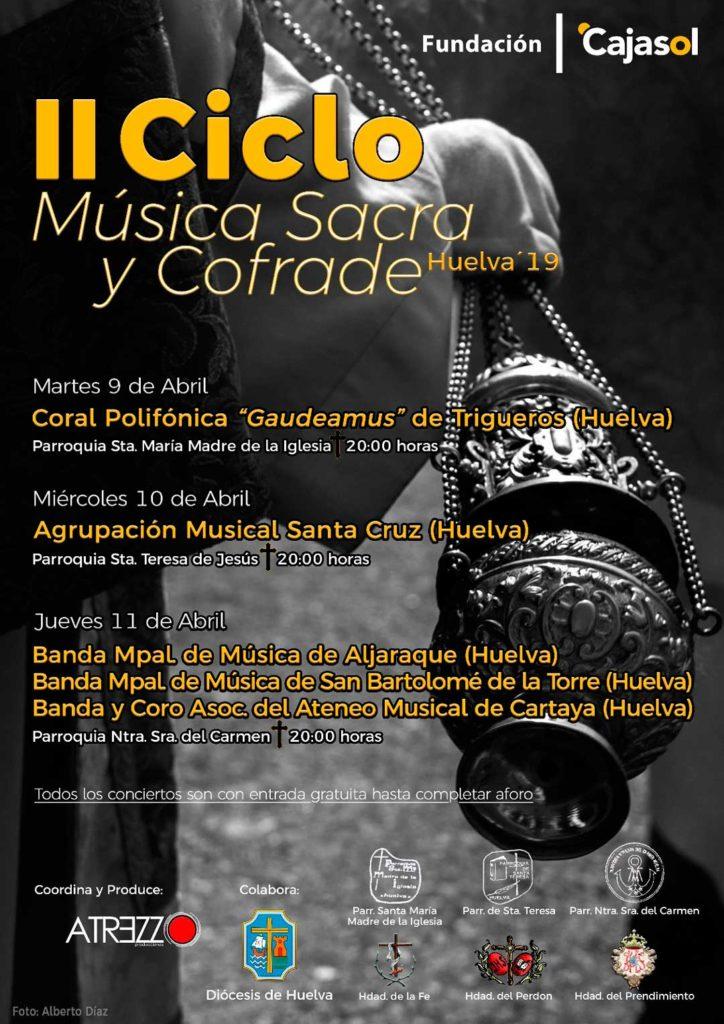 Cartel del II Ciclo de Música Sacra y Cofrade en Huelva