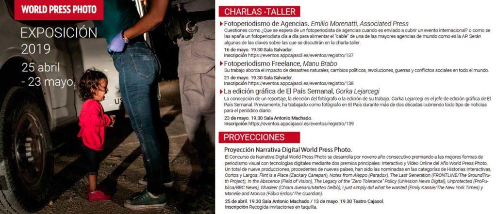 Información sobre talleres en la exposición World Press Photo 2019 en Sevilla