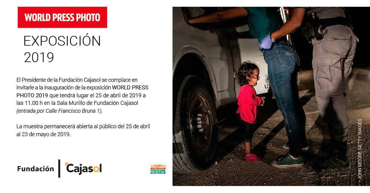 Invitación a la inauguración de la exposición 'World Press Photo 2019' en la Fundación Cajasol