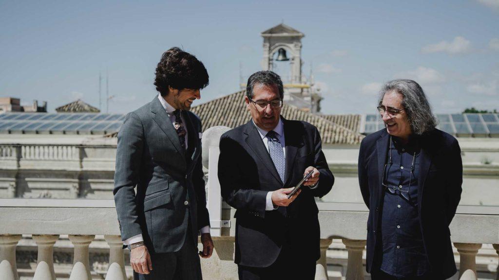 Presentación del disco 'Rocío, cien por cien', de Manuel Lombo en la Fundación Cajasol