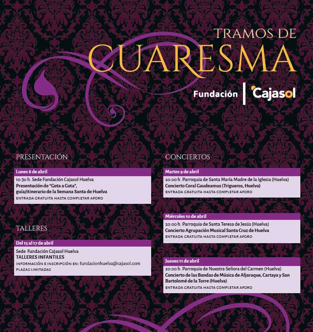 Programación de Tramos de Cuaresma 2019 en Huelva