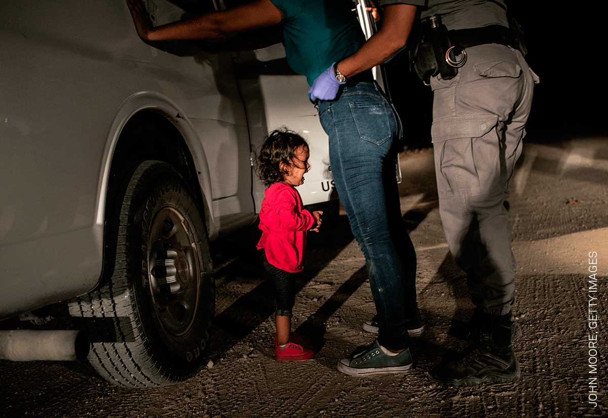 Foto de John Moore, finalista en el World Press Photo 2019