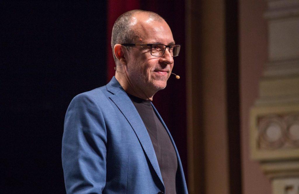 Alfonso Alcántara, durante su intervención en el #EKHuelva19 de la Fundación Cajasol