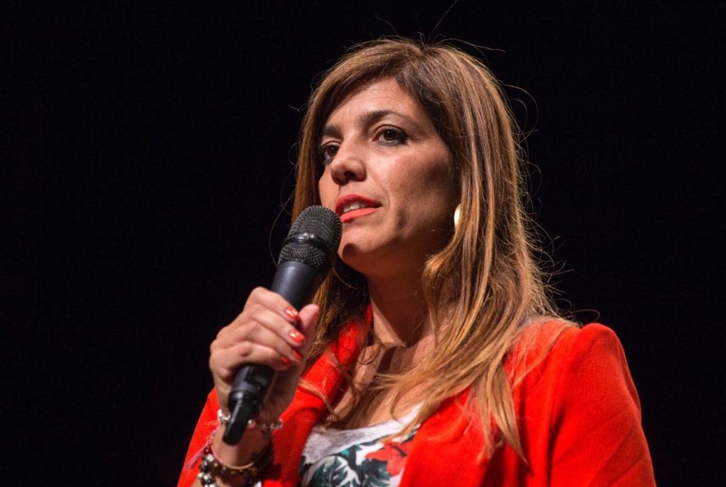 Laura Chica, durante su intervención en el #EKHuelva19