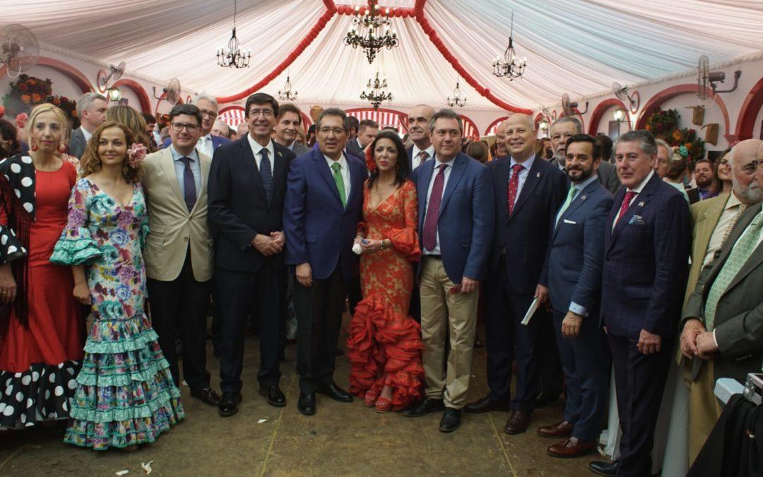 Recepción Institucional de la Fundación Cajasol en la Feria de Sevilla 2019