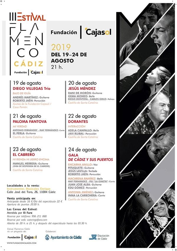 Cartel de la III Edición del Estival Flamenco Cádiz