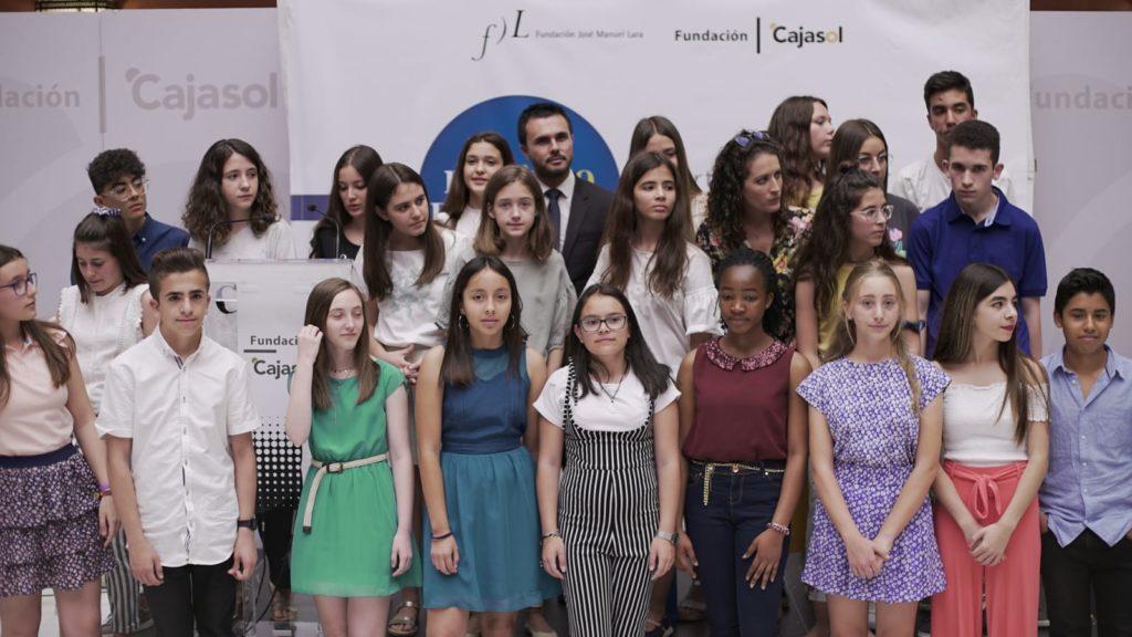 Ganadores y finalistas del VI Concurso Mi libro preferido en la Fundación Cajasol