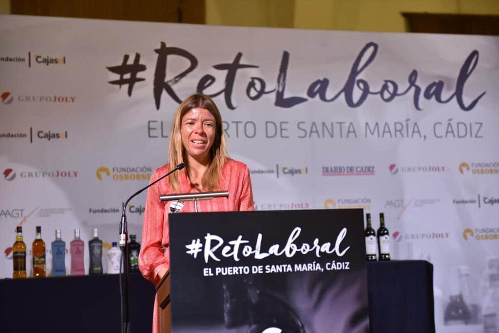 La delegada de la Fundación Cajasol en Cádiz, María del Mar Díez, en el #RetoLaboral de Fundación Osborne