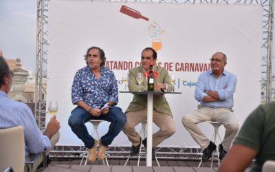 Catando coplas de Carnaval en la Fundación Cajasol: Cádiz y Jerez, unidas por el vino y el Carnaval