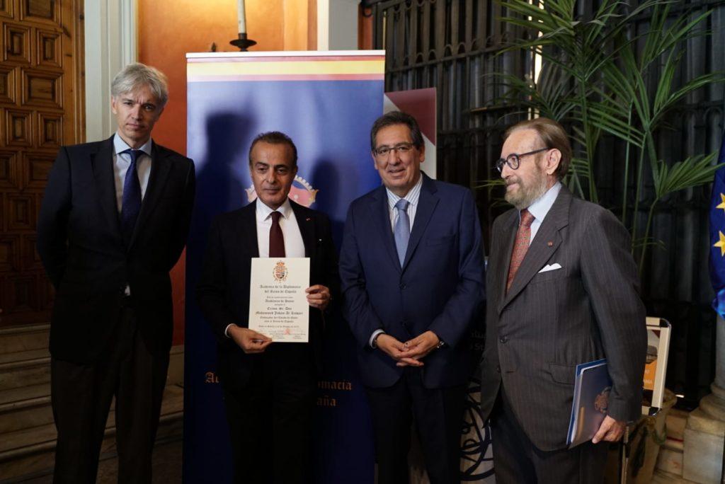 Nombramiento como socio de honor de la academia de Diplomacia a Mohammed Jaham Al-Kuwari