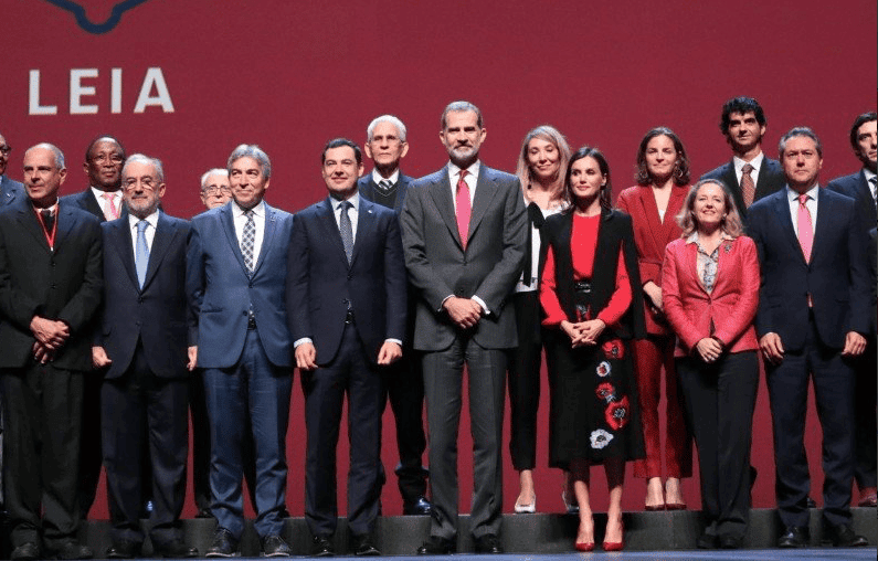 Sus Majestades los Reyes en la clausura del XVI Congreso ASALE en Sevilla