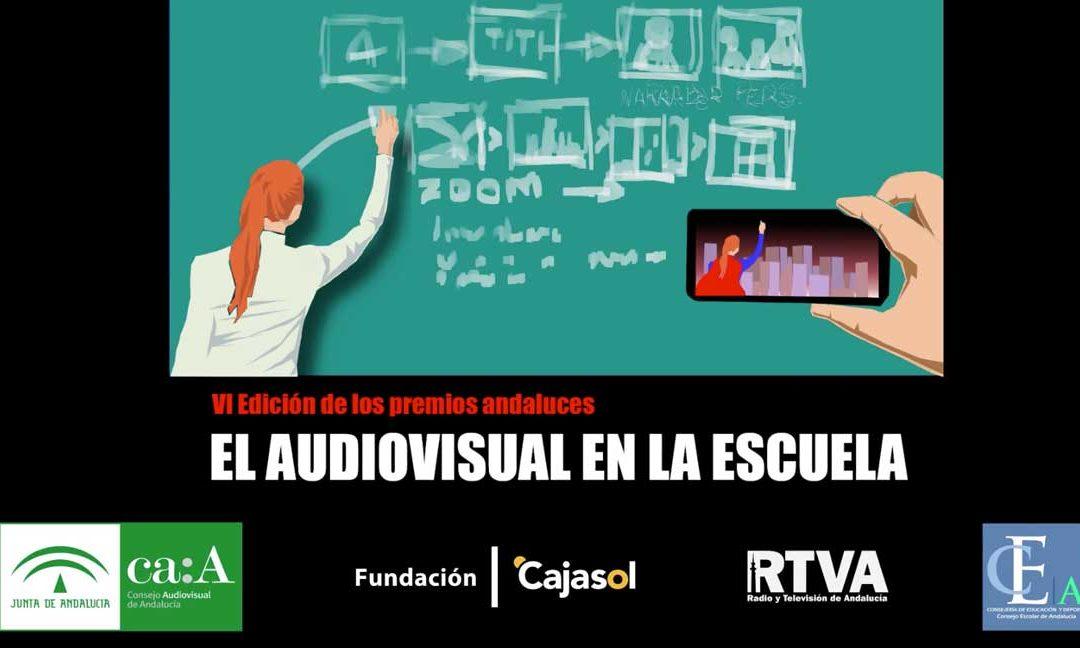 Cartel del VI Certamen 'El Audiovisual en la Escuela'