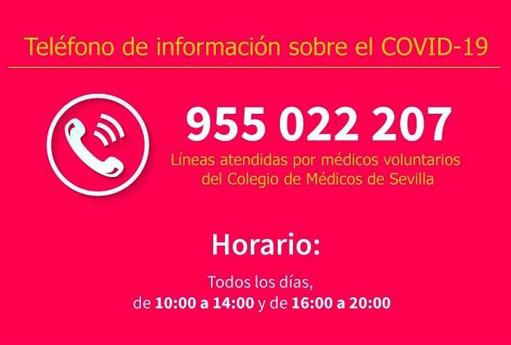 Teléfono de asistencia telefónica sobre Covid-19