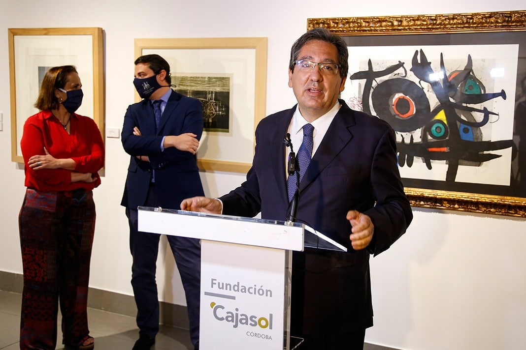 Antonio Pulido, durante su intervención ante los medios de comunicación